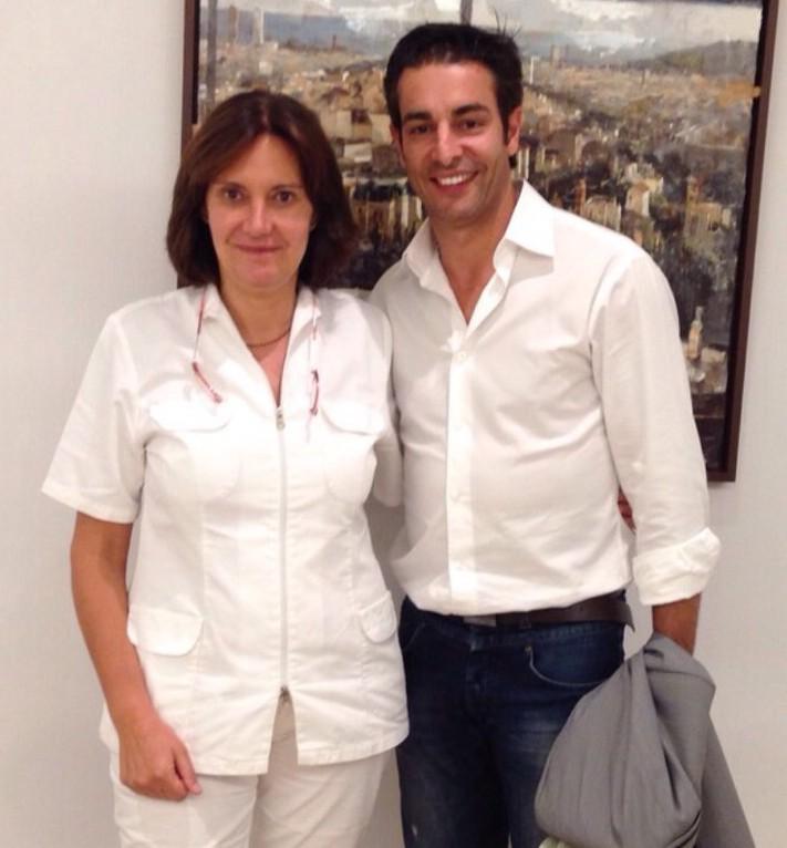 Con el Dr Figueredo en mi consulta - Octubre 2014