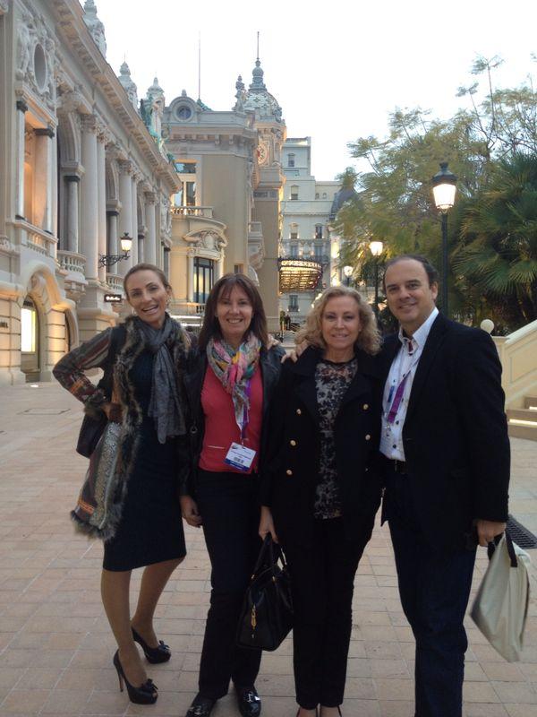 Con los Drs Urdiales y Mar Mira - Mónaco 2014