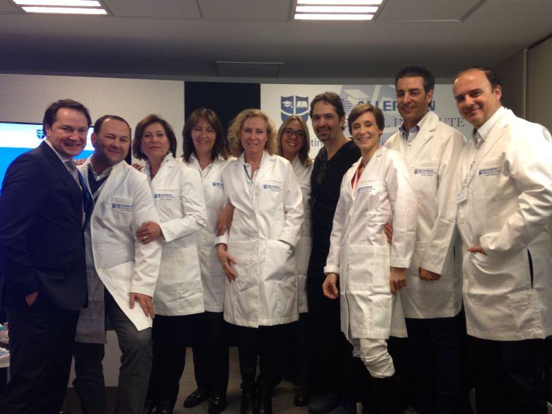Dra Villanueva con drs Iberia Allergan Medical Academy - Jean les Pins 2014