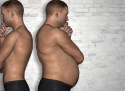 Un abdomen plano empieza en la mesa