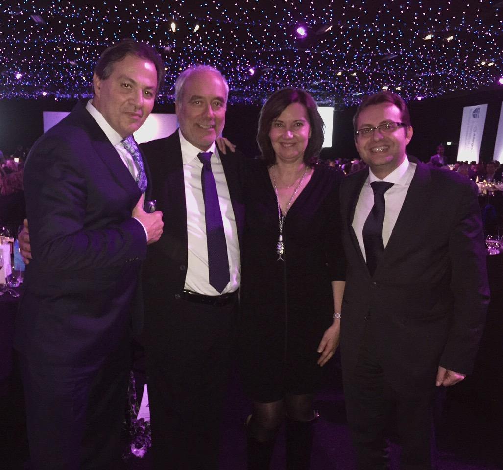 Con el Dr Ortiz, el Dr Swift y Juan Pedro Franco - Londres 2016