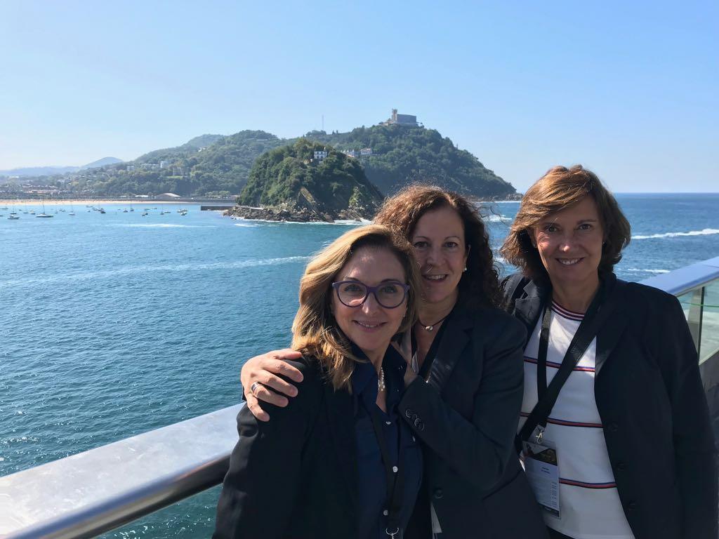 Con las Dras Escoda y Alonso San Sebastian 2018