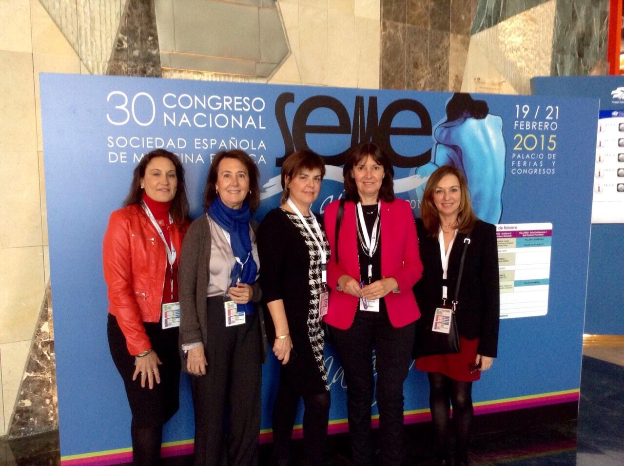 En el 30 Congreso de la SEME con las Dras Serrano, Govantes, Campoy y Escoda - Málaga Febrero 2015