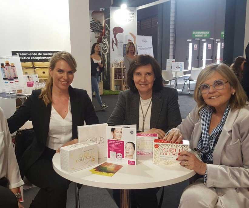 En Cosmobeauty con dra Segovia y Myriam Yebenes