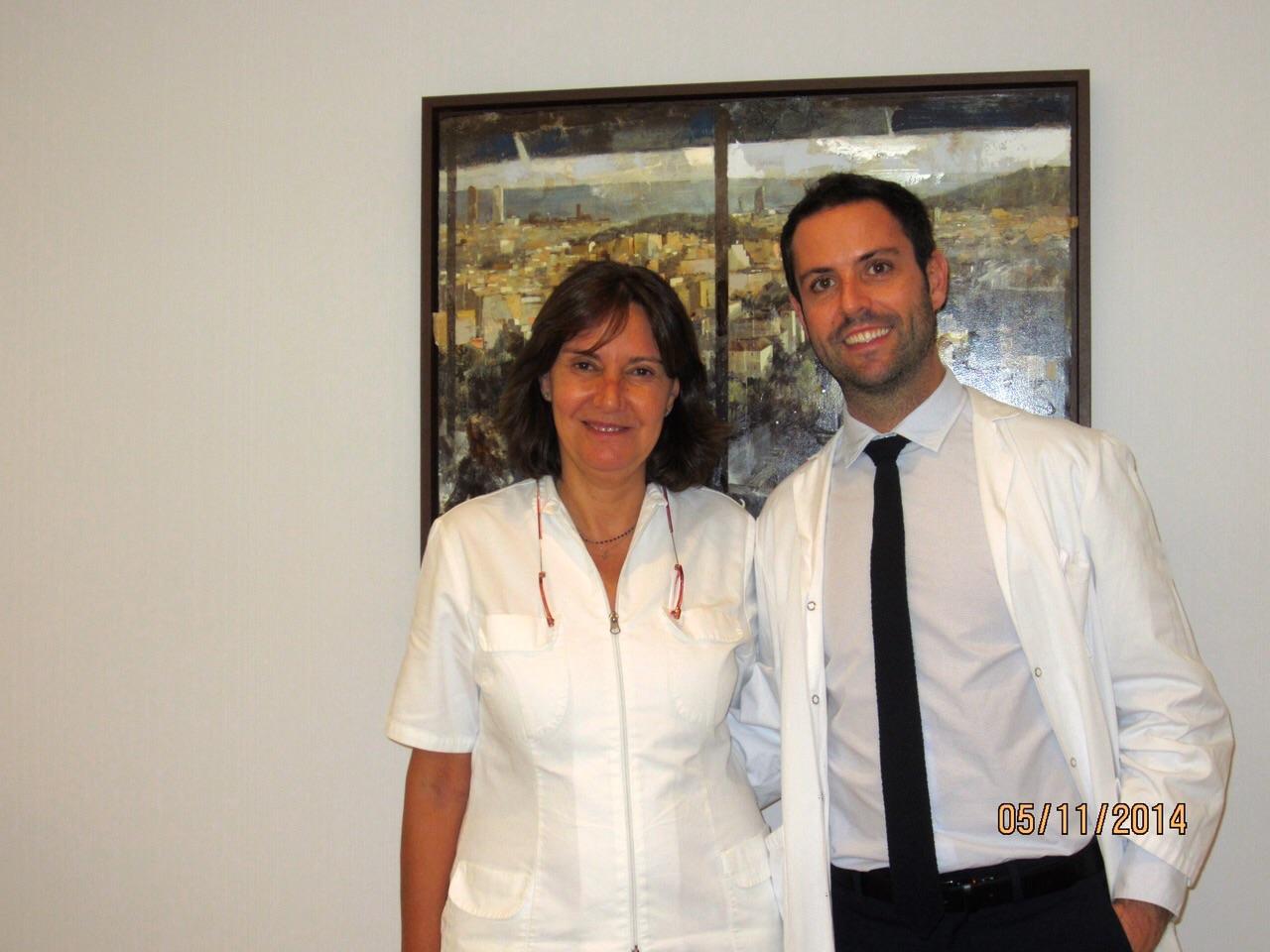 El Dr Ramos con la Dra Villanueva durante su estancia en nuestra consulta - Noviembre 2014
