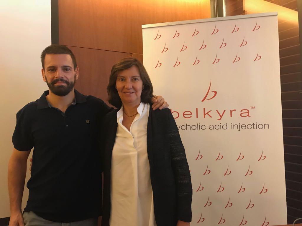 La Dra Cristina Villanueva con el Dr Romero Riu - Taller de Belkyra 2017