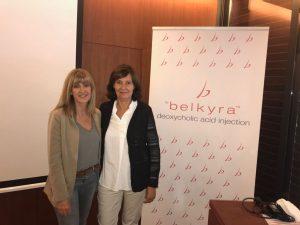 La Dra Cristina Villanueva con la Dra Elia Roo - Taller de Belkyra 2017