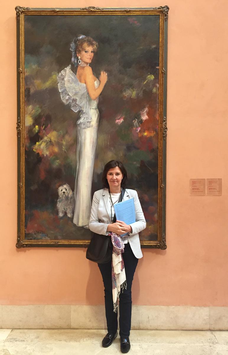 Dra Cristina Villanueva en el Museo Thyssen - Madrid 2016