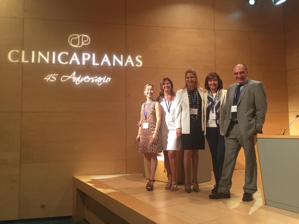 Con la Dra Adriana Ribé, Montse Planas, Virginia Benitez y Mariano Velez - Barcelona 2018