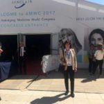 La Dra Villanueva ha su llegada al AMWC 2017 en Monaco