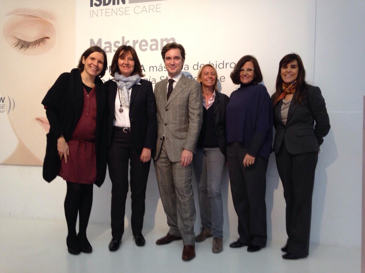 Con el Equipo de Isdin en Madrid - Diciembre 2014