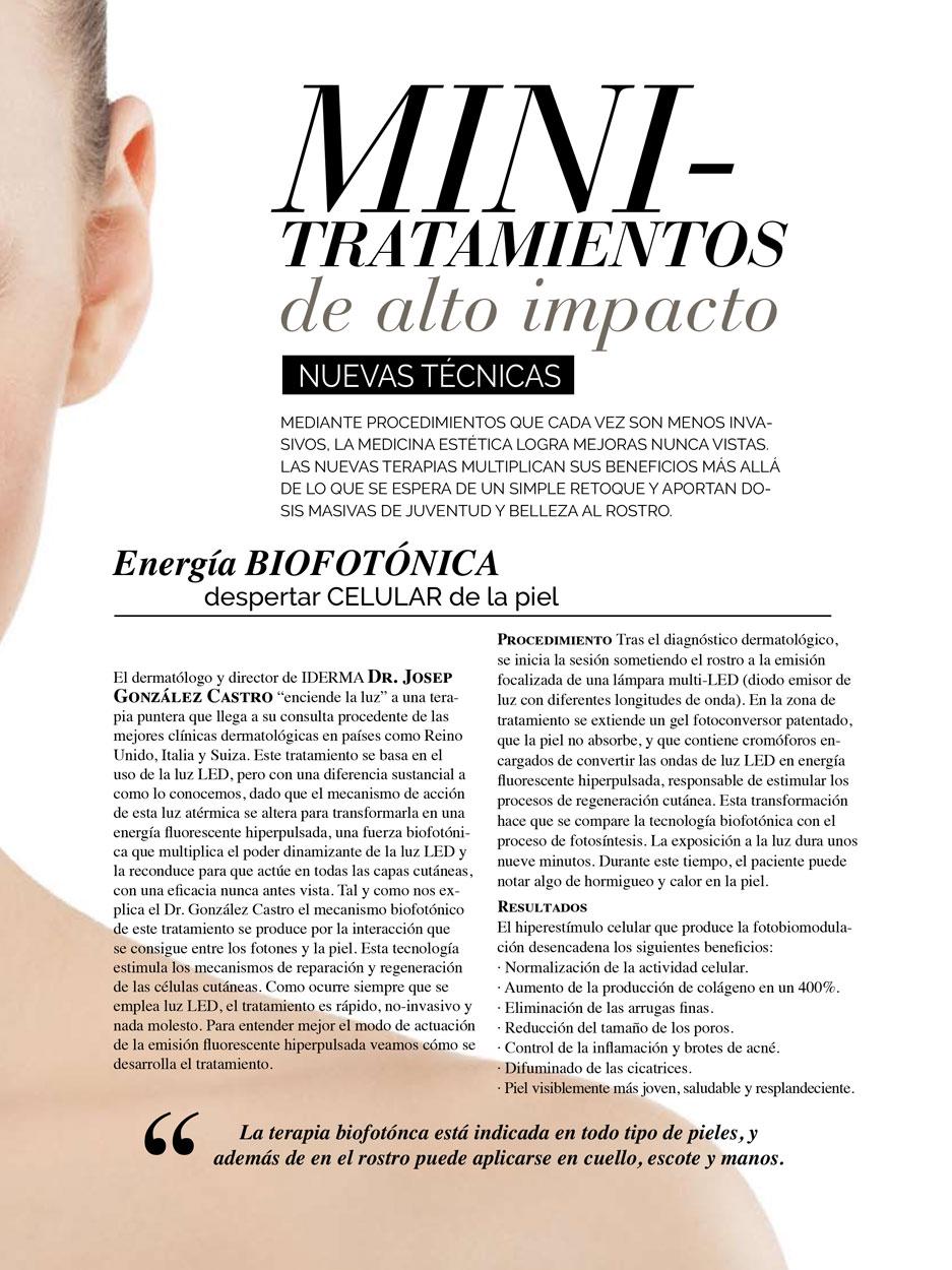 Revista Nueva Estética Minitrataientos de alto impacto