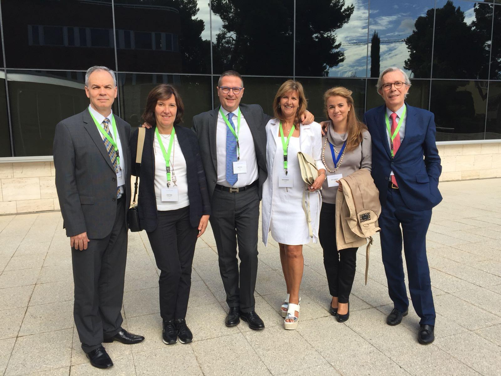 La Dra Villanueva con los doctores con Goldman, Tretti , Planas y Santos - Barcelona 2017